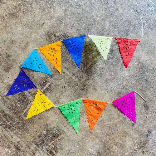Mini Papel Picado Banner - Triangle