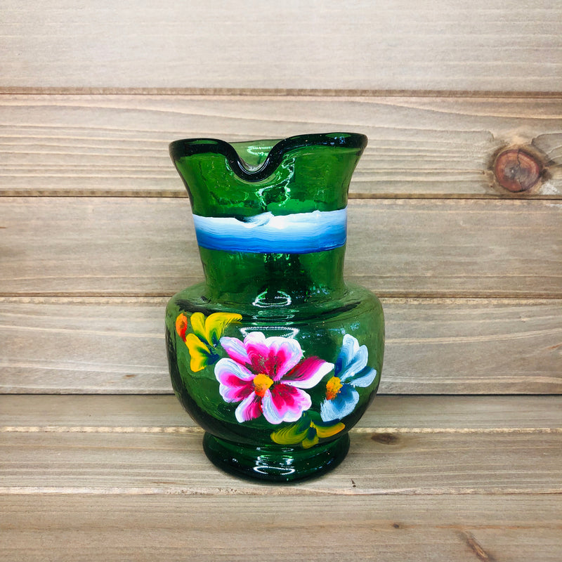 Hand-painted Floral Jug - Large