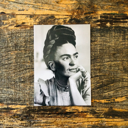 Vintage Frida Postcard - Gazing Frida