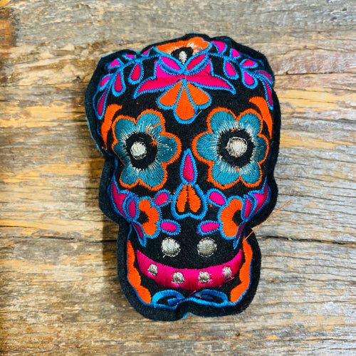 Sugar Skull Felt Embroidered Ornament