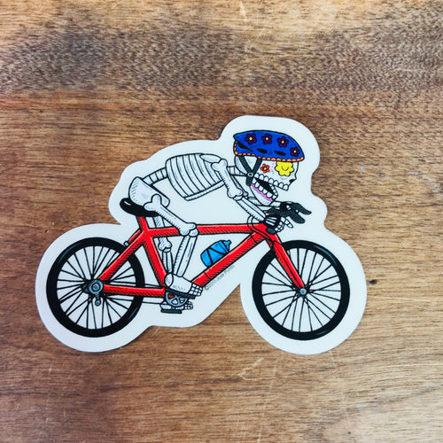 Biker Calavera Sticker