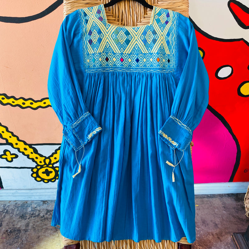 Women's Embroidered Tunic - Royal Blue