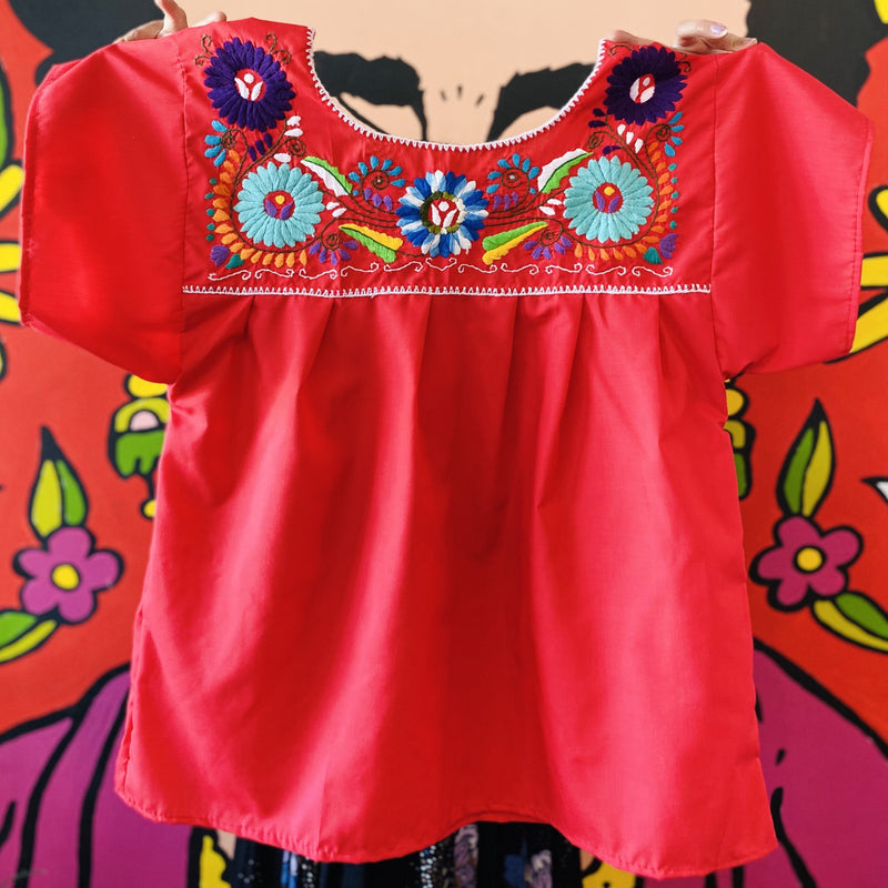 Women's Embroidered Blouse - Red