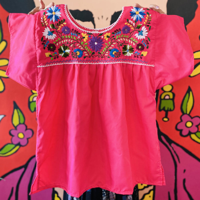 Women's Embroidered Blouse - Pink