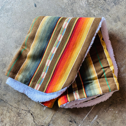 Serape Baby Blanket - Brown