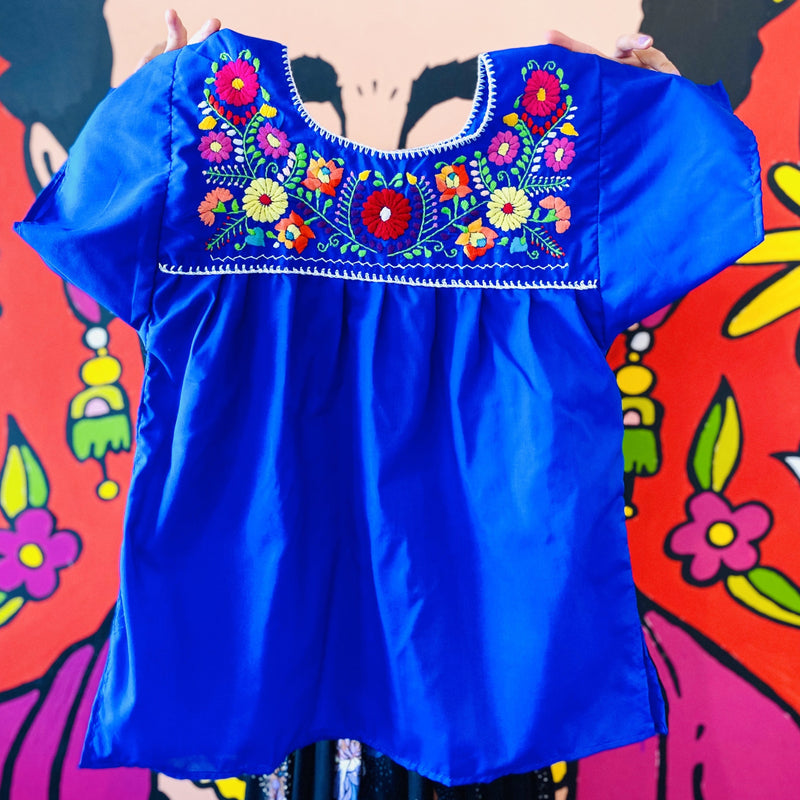 Women's Embroidered Blouse - Royal Blue