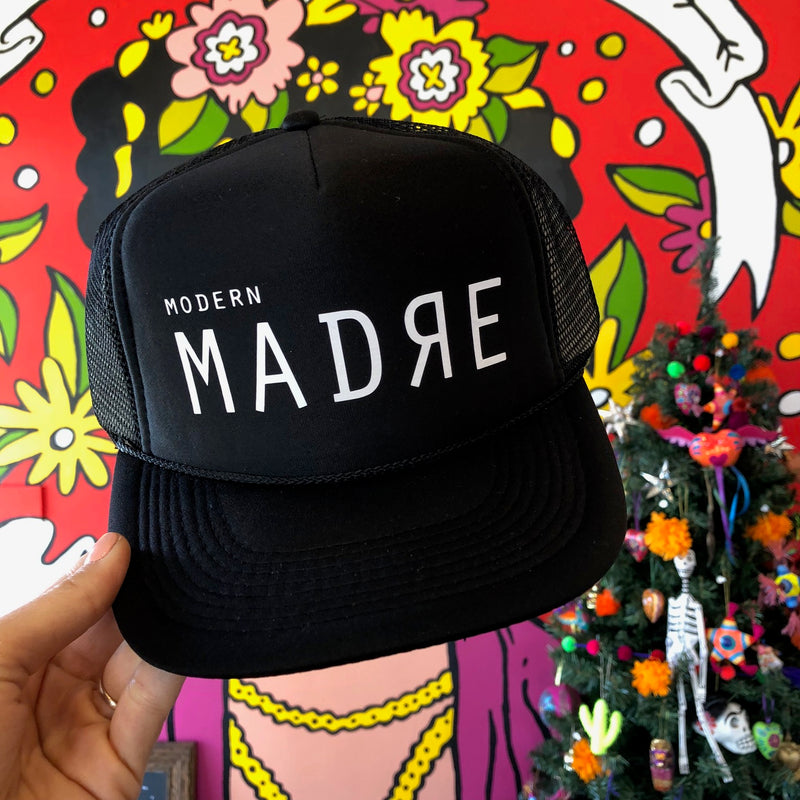 Black Modern Madre Hat