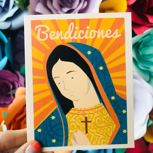 Virgen de Guadalupe Bendiciones Card
