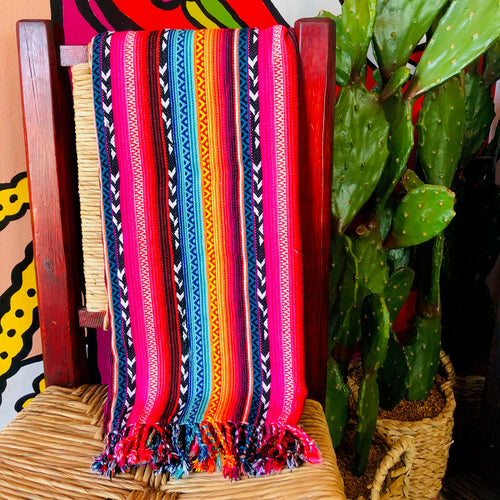 Serape Tassle Throw Blanket