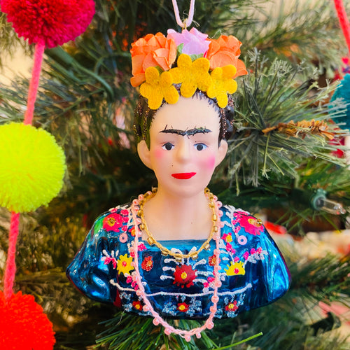Glass Frida Ornament