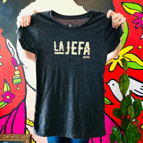 Gray La Jefa womens fit t-shirt