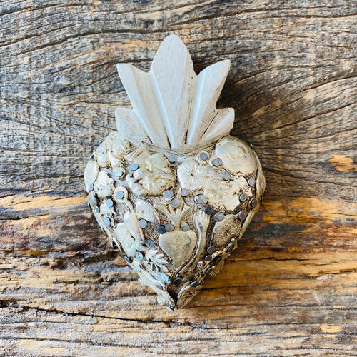 Wood Milagro Heart - Stone