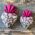 Wood Milagro Heart - Dark Pink