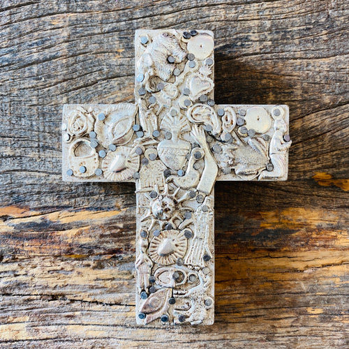 Wood Milagro Cross #1 - Stone