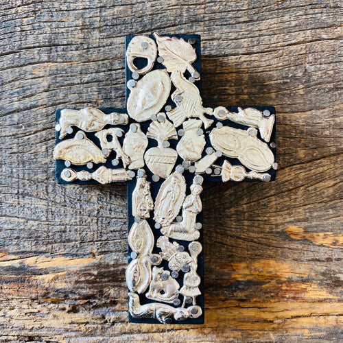 Wood Milagro Cross #1 - Black