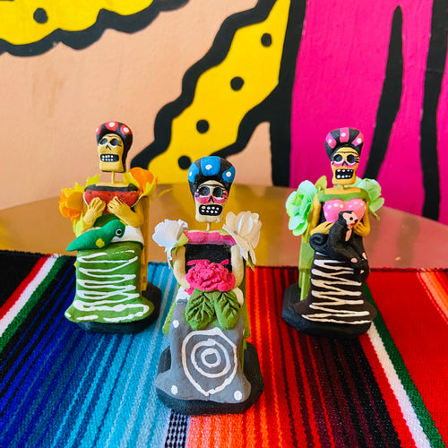 Calavera Figurine - Sitting Frida