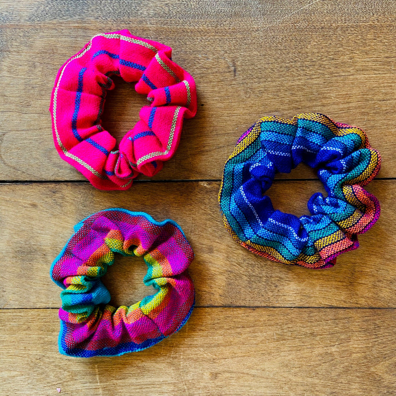 Mexican Fabric Scrunchies