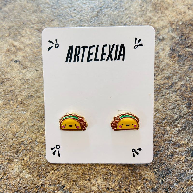 Smiling Taco Stud Earrings