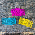 Papel Picado Earrings - Mustard