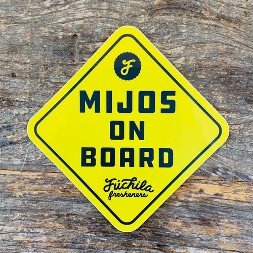 Mijos On Board Car Sticker