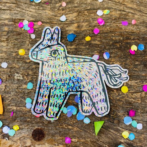 Artelexia Sticker Collection - Glitter Rainbow Piñata