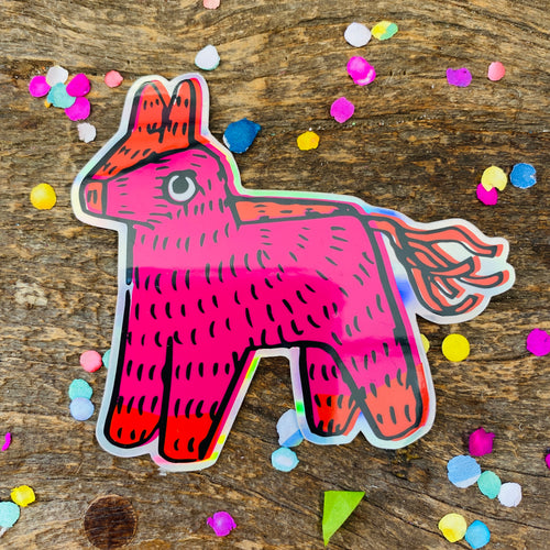 Artelexia Sticker Collection - Holographic Donkey Piñata
