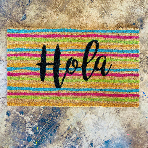 Hola Striped Doormat (* PICKUP ONLY*)