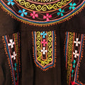 Women's Embroidered Blouse - Black Neon