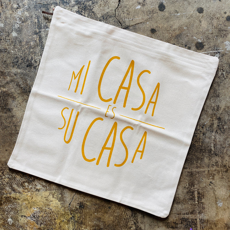Mi Casa Throw Pillow Cover - Yellow