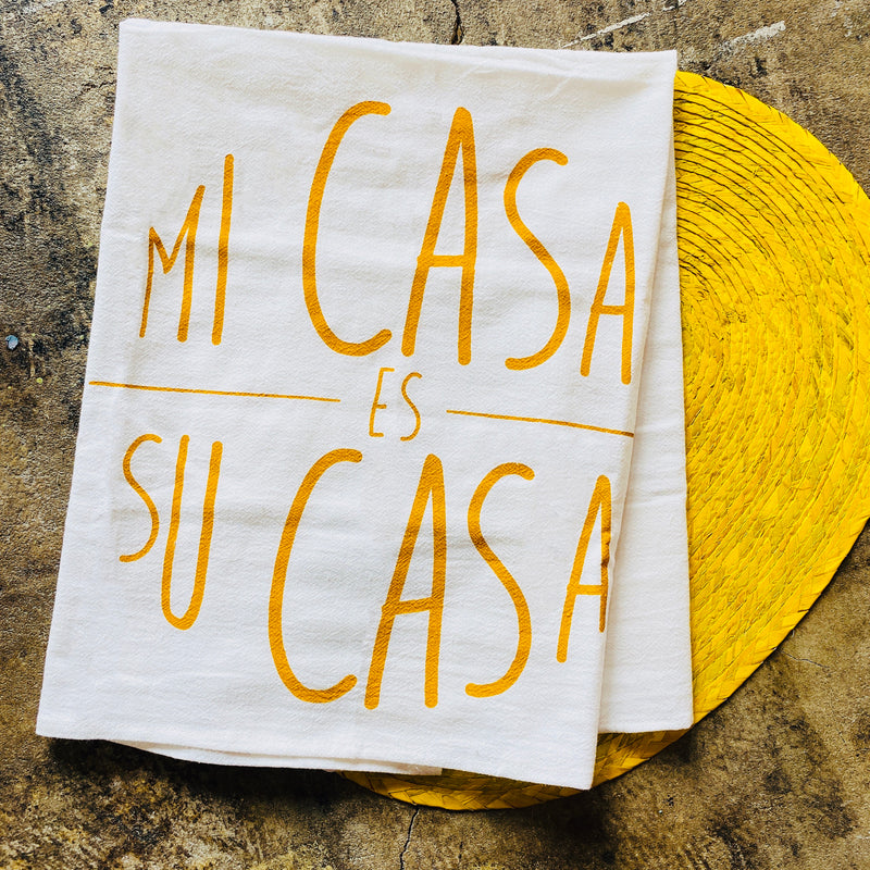 Mi Casa Tea Towel - Yellow