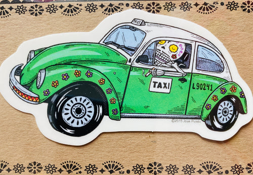 VW Beetle Taxi Sticker