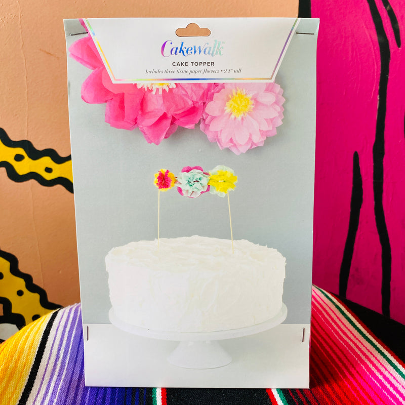 Flower Tissue Paper Cake Topper