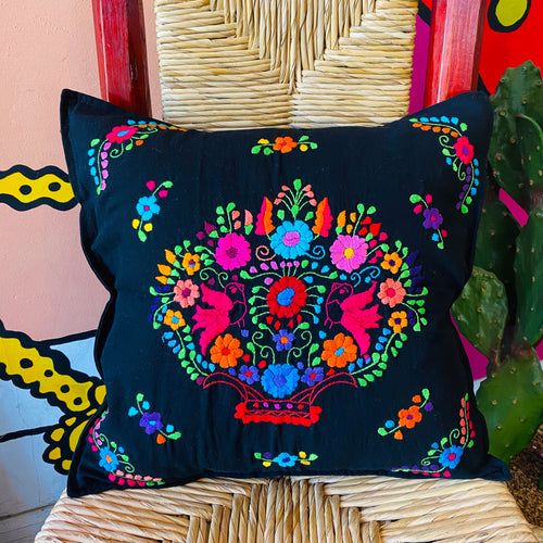 Puebla Embroidered Pillow Cover