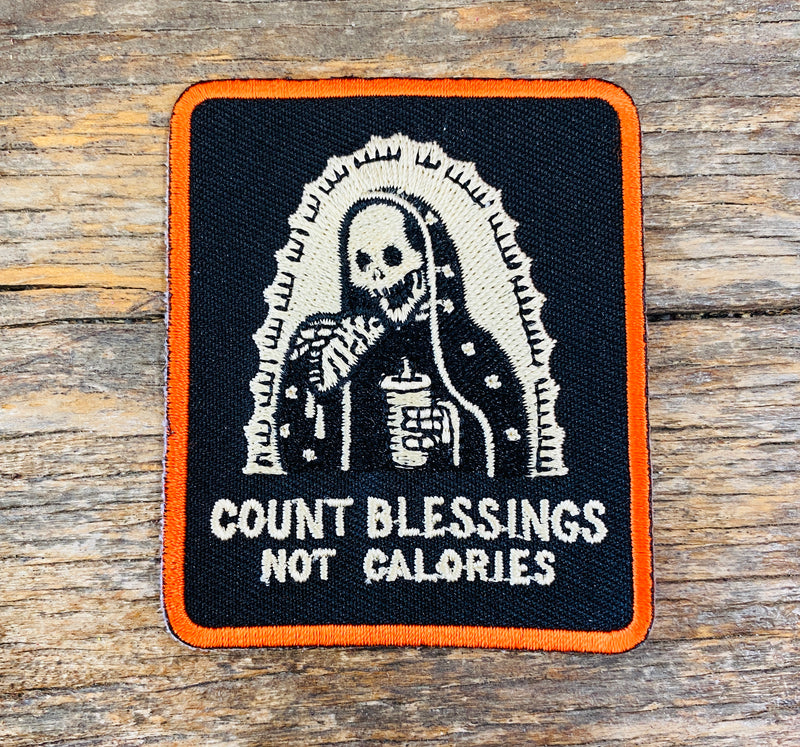 The Count Blessings Not Calories Iron-On Patch