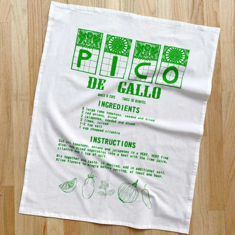 Pico De Gallo Tea Towel - Green