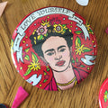 Frida Kahlo Love Yourself Mural Pin-back Buttons Large Size — Artelexia Online Shop of Mexican Gifts, Homewares, and more ...