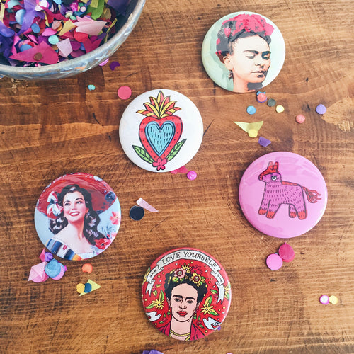 Artelexia Collection Pin-back Buttons — Artelexia Online Shop of Mexican Gifts, Homewares, and more ...