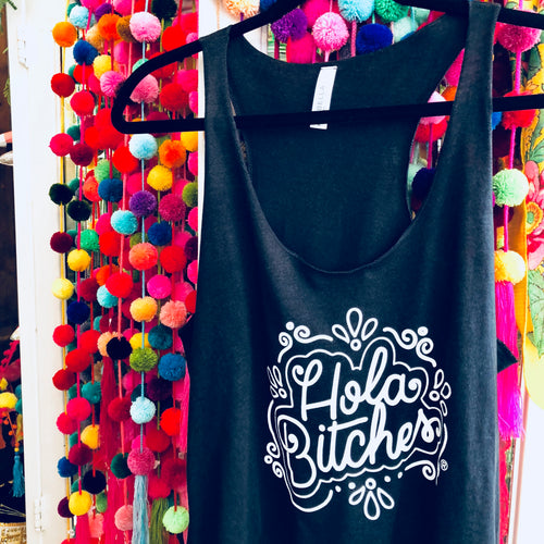 Hola Bitches® Black Tank Top