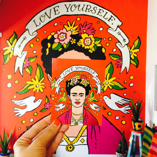 Love Yourself Frida Kahlo Postcard