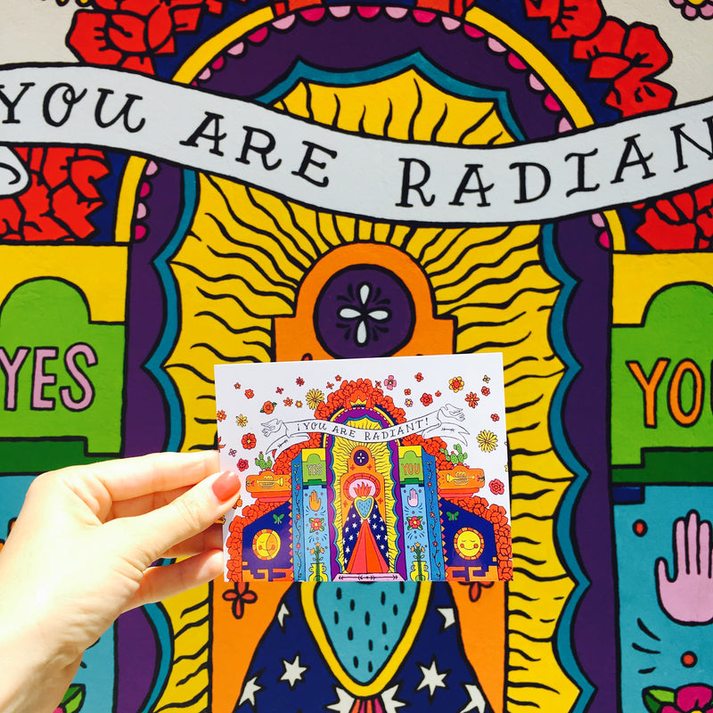 You Are Radiant Postcard