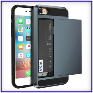 iPhone 7 Anti Shock Credit Card Slot Case - Flexy Store
