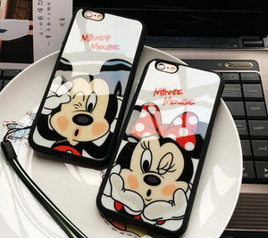 Mickey Mouse/Mouse Minnie Silicon Cover iPhone 7SE 6/6S 5/5S - Flexy Store