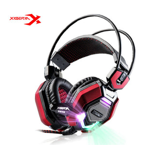 XIBERIA V6 Over-ear Stereo Gaming Headset headband LED Light Headset Gamer PC USB Computer Earphones Headphone With Microphone - Flexy Store