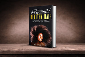 Book about having and maintaining healthy hair. Beautiful, healthy hair growth.