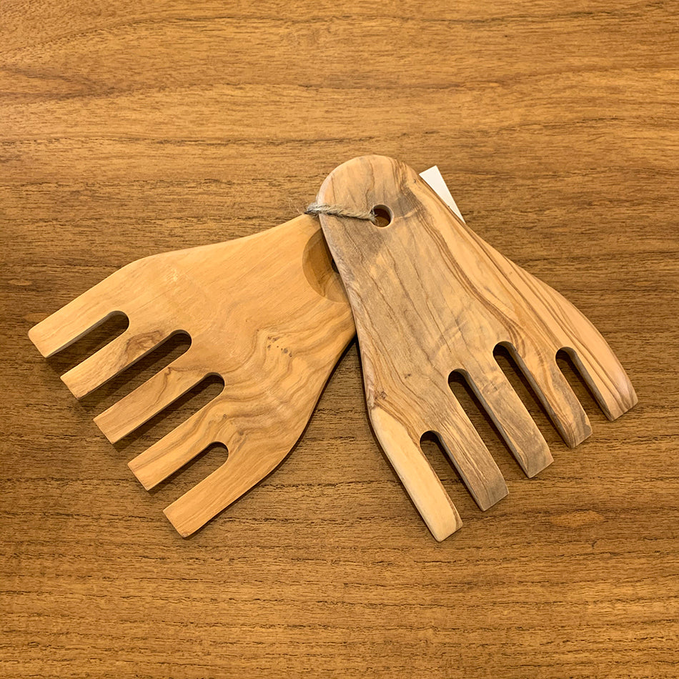 Home: Olive Wood Server Set