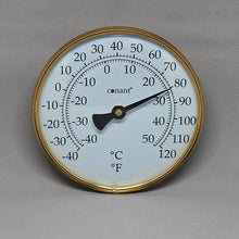 Brass Indoor/Outdoor Thermometer