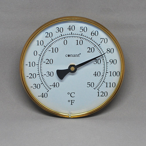 Garden: Brass Indoor/Outdoor Thermometer