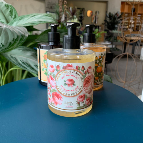 At Home: Rose Liquid Marselle Soap