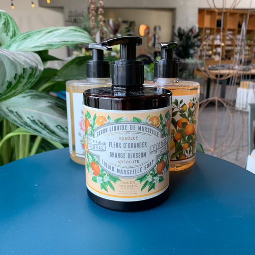 At Home: Orange Blossom Liquid Marselle Soap