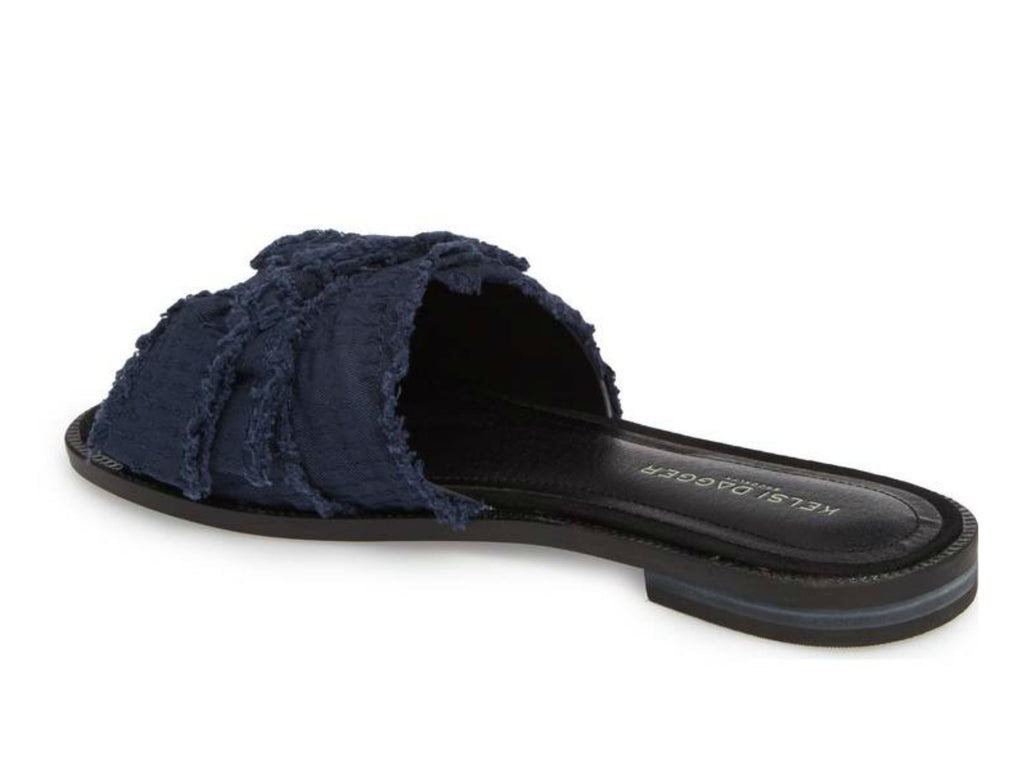 Kelsi Dagger Brooklyn Revere Bow Slide Sandal in Navy